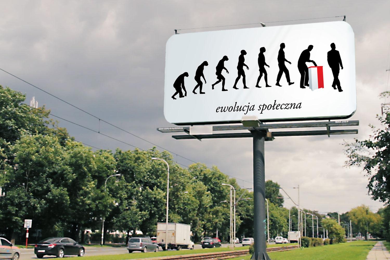 Billboard Ewolucja Społeczna