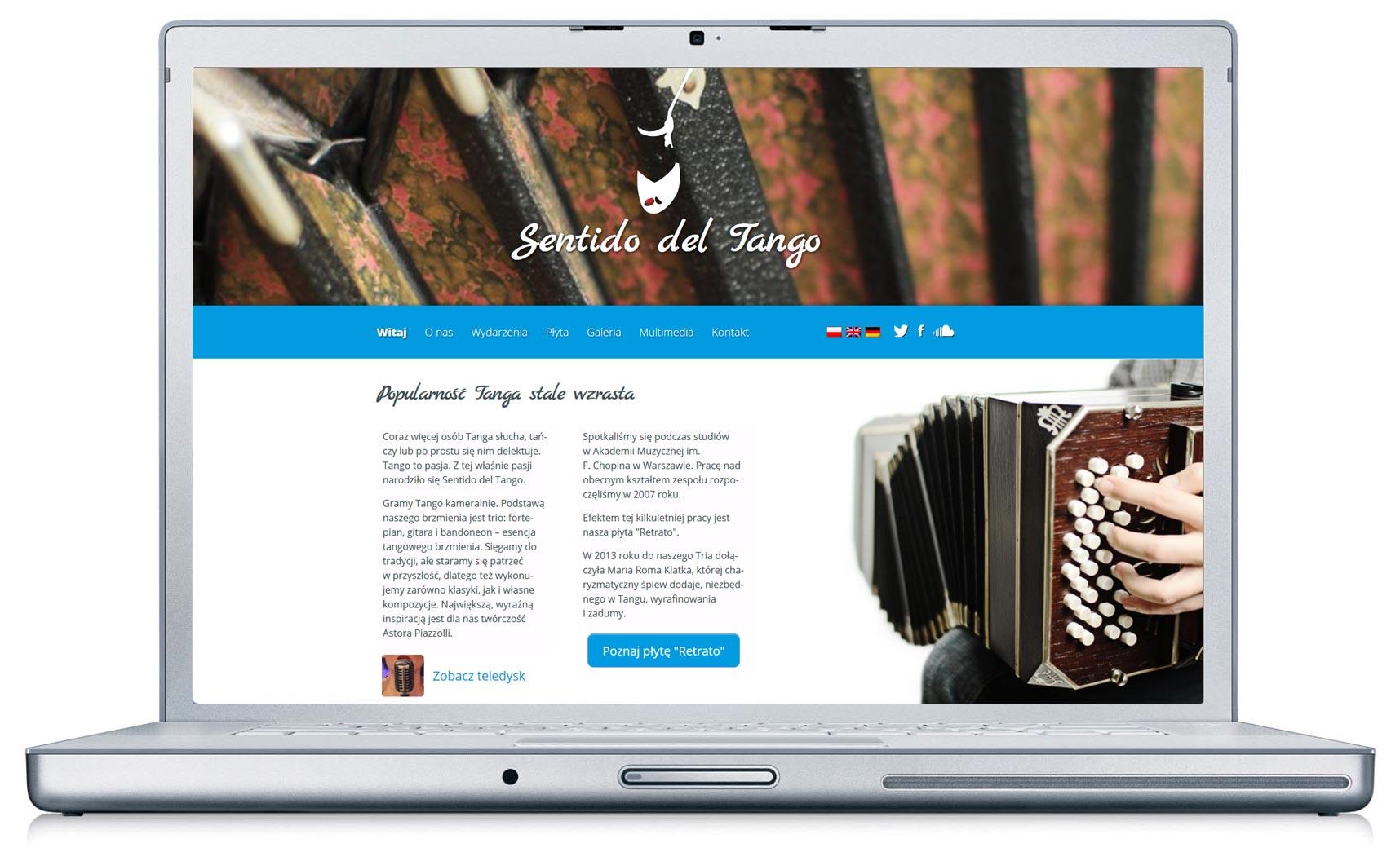 www Sentido del Tango po zmianie
